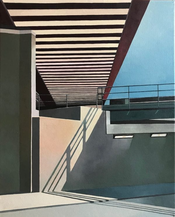 Angles Urban Oil Painting by Marie Lenclos