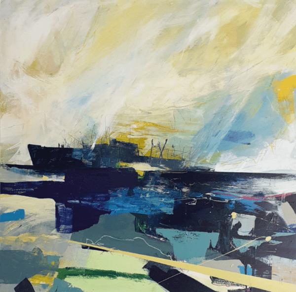 Elapse Abstract Marine Painting Georgia Elliott