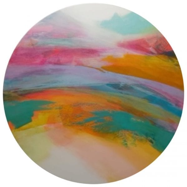 Orange Sands Abstract Painting By Jane Wachman