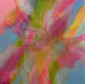 Rhythmic Pinks Abstract Painting Jane Wachman