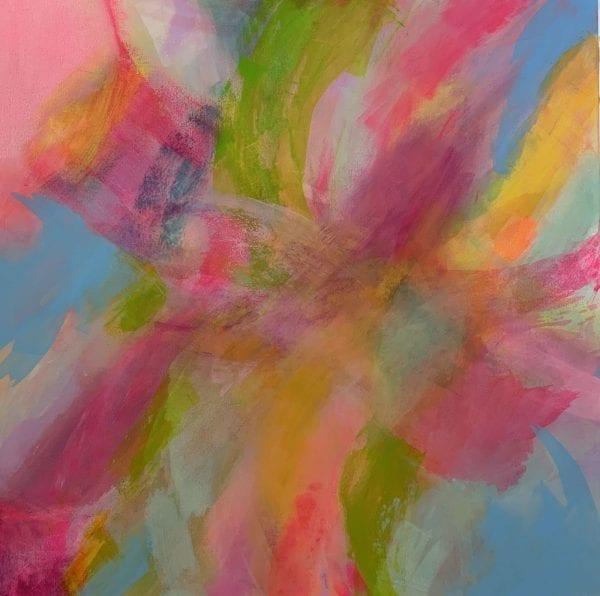 Rhythmic Pinks Abstract Painting Jane Wachman