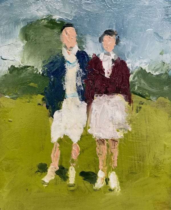 Mixed Doubles, Tennis Painting, David Storey, The Art Buyer Gallery