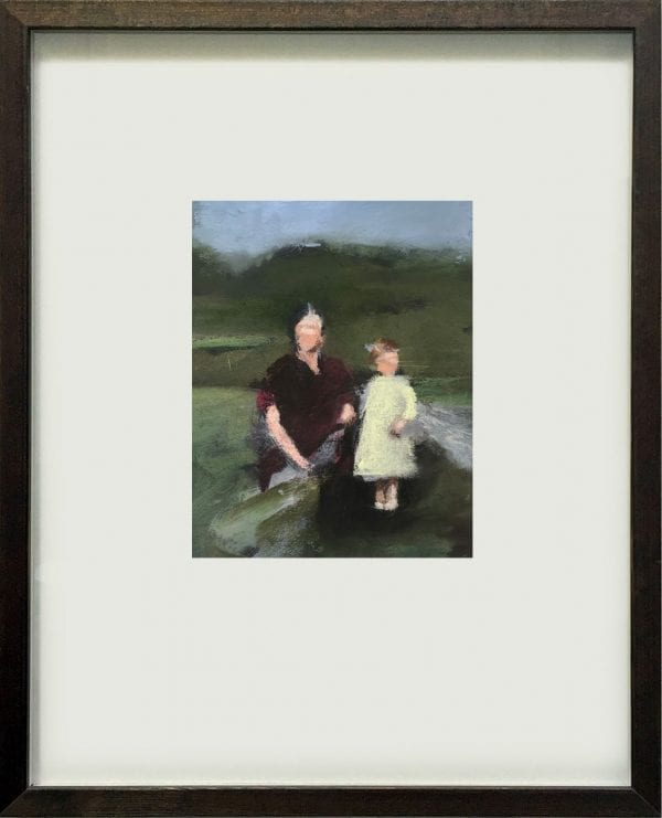 David Storey-By A Stream- Oil and Pastel - The Art Buyer Gallery