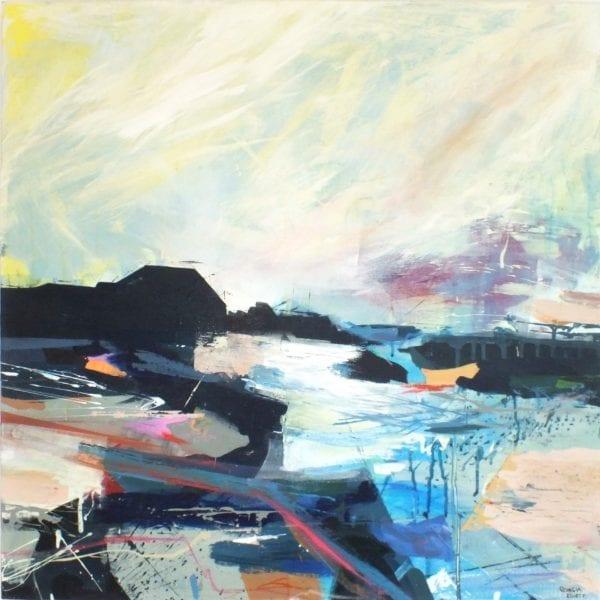 Artist Georgia Elliott_The Art Buyer Gallery_ Into The Fold Abstract Painting