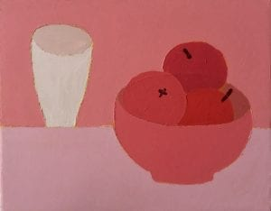 Apples on Pink_Sophie Harding_Still Life_The Art Buyer Gallery