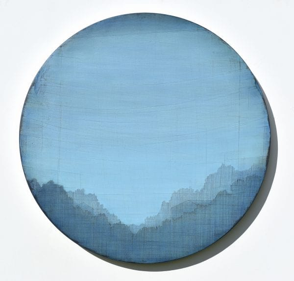 Susan Laughton Round Painting_The Art Buyer Gallery