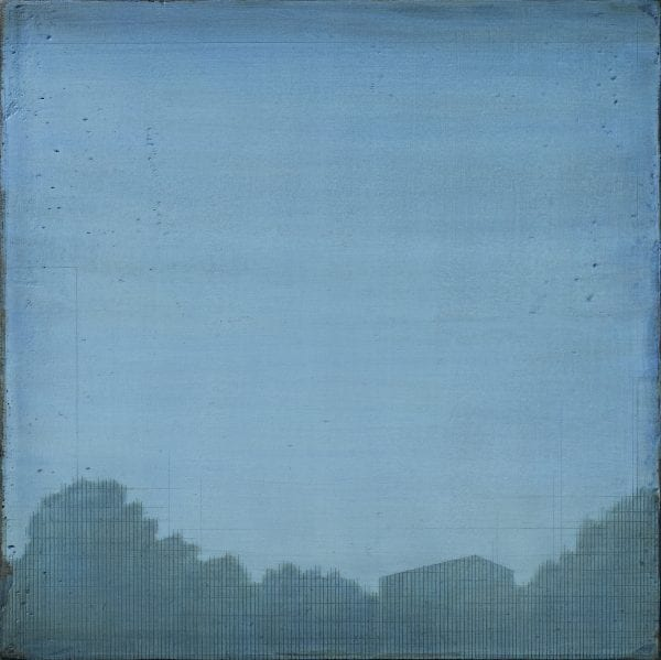 Susan Laughton Blue Landscape Painting_The Art Buyer Gallery
