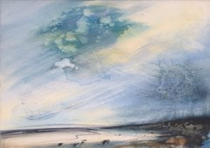 Paynes Grey Tidelines Amy Albright Artist The Art Buyer Gallery