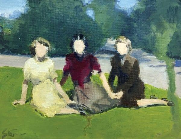 Women Sitting On Grass_David Storey_The Art Buyer Gallery