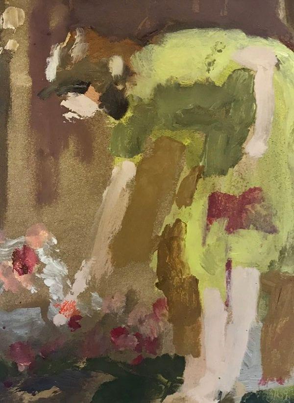 Woman Picking A Flower_David Storey_The Art Buyer Gallery