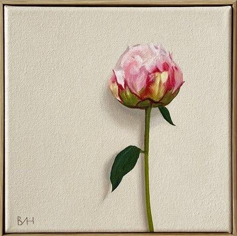 Nearly Peony I_Bess Harding_The Art Buyer Gallery