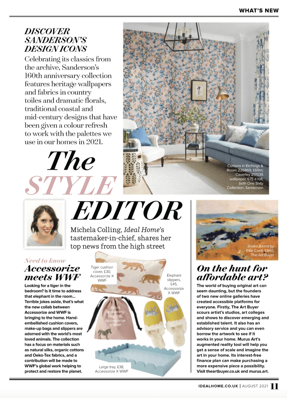 The Art Buyer Gallery in Ideal Home Magazine Affordable Art Feature UK