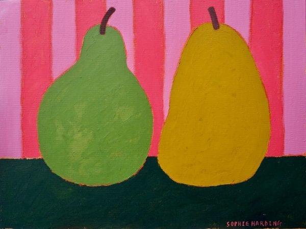 Pears on Vivid Stripes_Sophie Harding_The Art Buyer Gallery