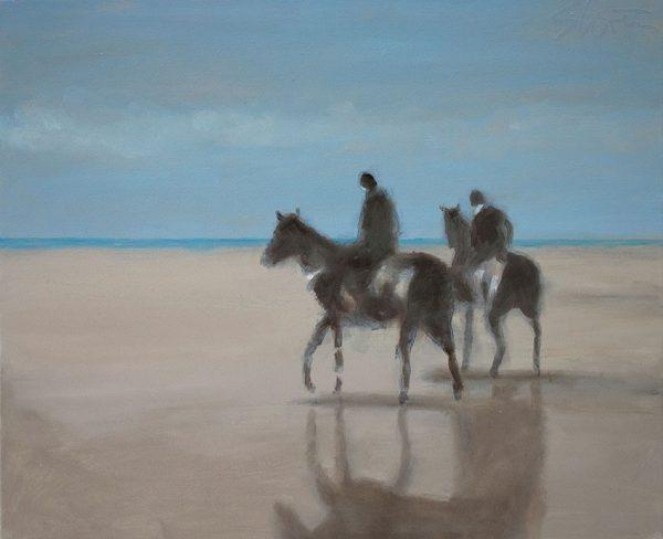 Horses on a Beach_David Storey_The Art Buyer Gallery